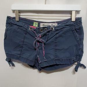 American Eagle Blue CargoPink Drawstring Shorts 2